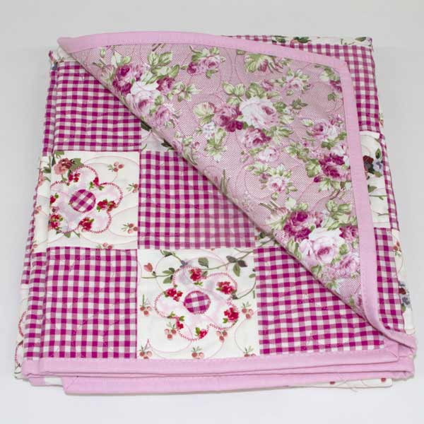 Daisy May' Patchwork Quilt - Runny Babbits : pink patchwork quilts - Adamdwight.com