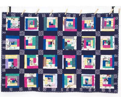 Navy Cotton & Polycotton Quilt