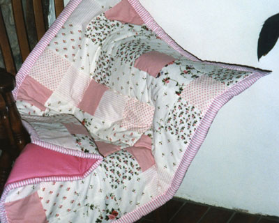 Pink Block Baby Quilt