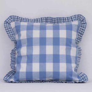 Big Check and Frill-Cushion-front-BC00003