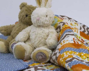 Baby-Bo-and-Baby-Darcy-on-Now-We're-Getting-Somewhere-quilt-Q000113