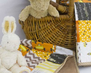 Baby-Bo-and-Darcy-go-for-a-picnic-with-The-Great-Race-quilt