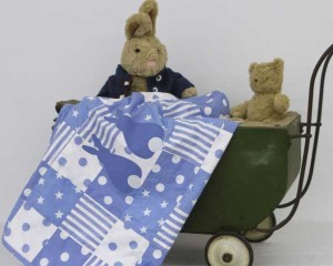 Big-Bo-and-Baby-Darcy-with-Runny-Babbits-lined-blanket-B000111