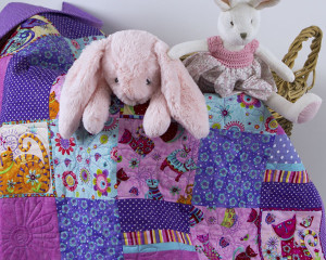 Cool-for-Purple-Cats-Patchwork-cot-Quilt