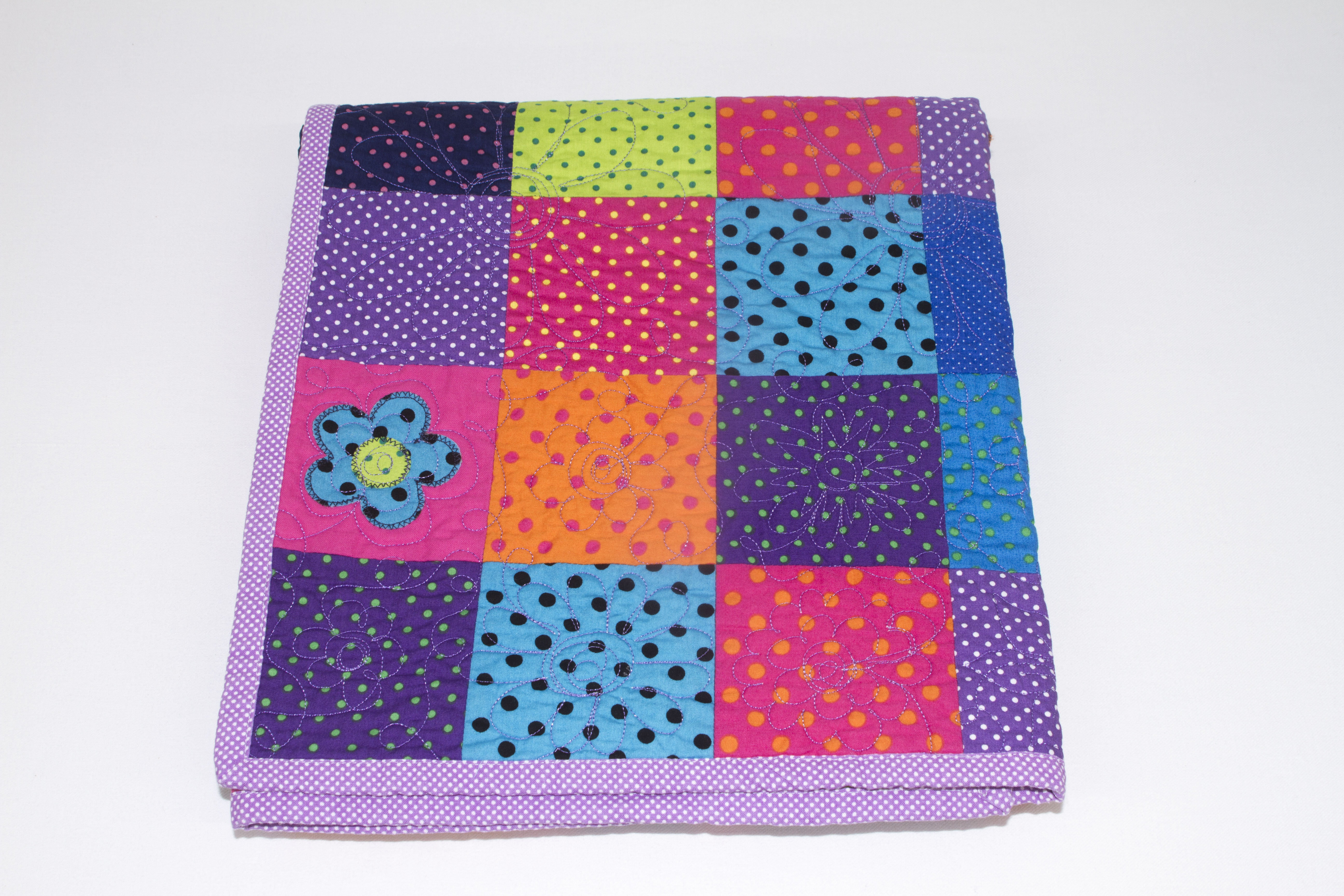 Quilt It Dotty.I M Dotty About You Patchwork Quilt