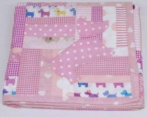 Walkies-Pink-patchwork-blanket-folded-B000106