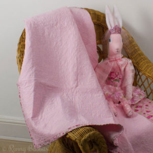 Happy Days Quilt in Pink with Fleur Party Princess Heirloom Rabbit