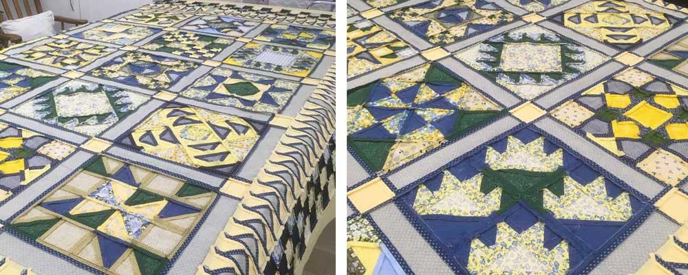 Make sure your quilt top lies flat