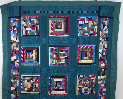 Turquoise Silk & Synthetic Quilt