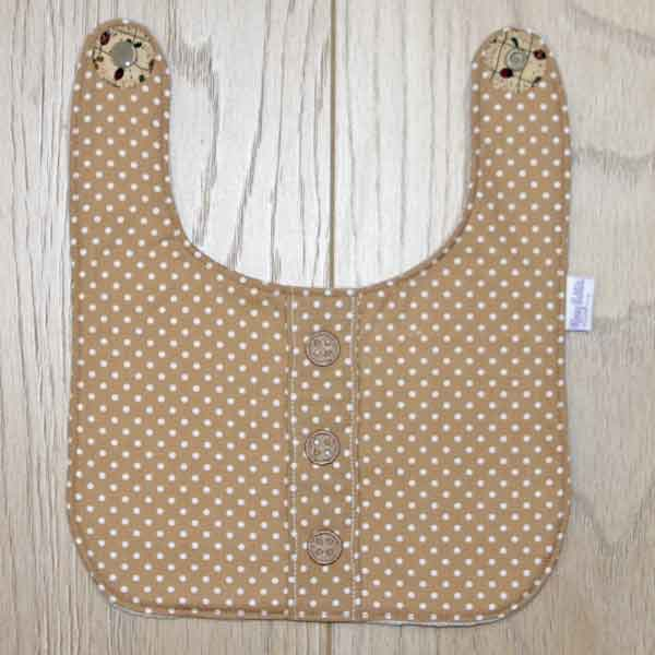 BB033 Coffee Button-up traditional bib