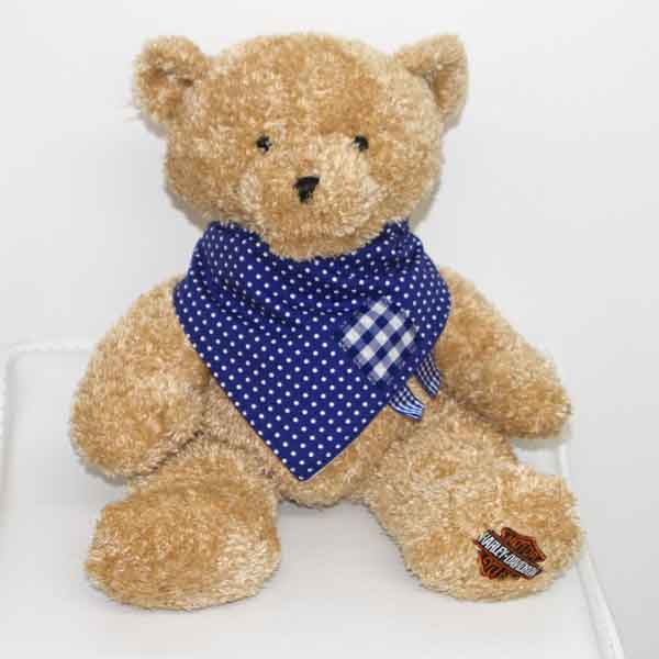 Blue-Polka-dot-full-bandana-bib-with-gingham-patches-BB031