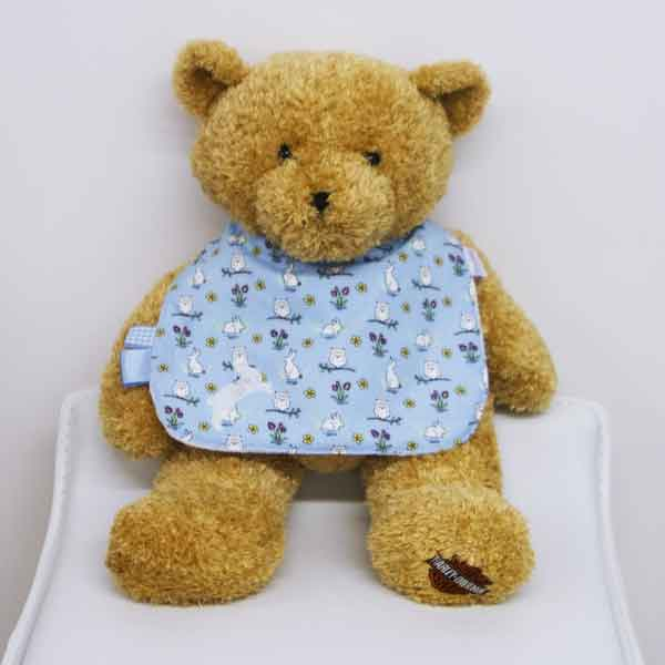 Blue-Rabbits-and-Owls-traditional-bib-bunny-motif-BB017