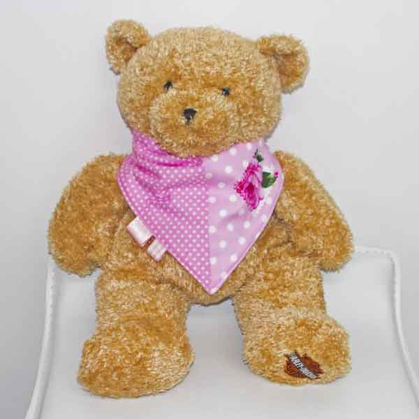 Pink-polka-dot-full-bandana-bib-cerise-rose-patch-BB018