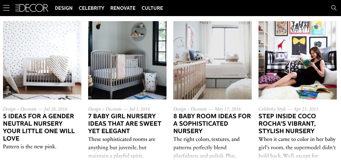Elle nursery decor themes