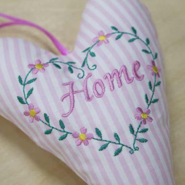 Home Heart in pink close-up