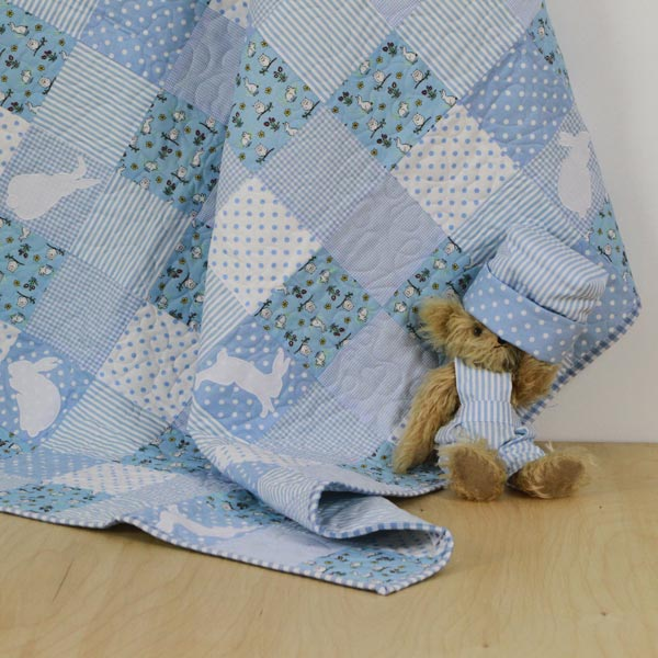 It's Raining Rabbits Patchwork Quilt