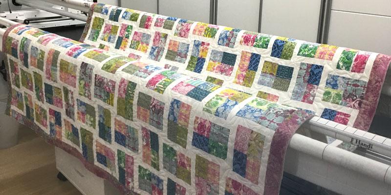 Floral garden block quilt pattern