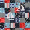Gone-Sailing quilt-navy theme detail