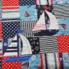 Gone-Sailing quilt-navy theme close-up detail