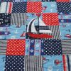 Gone-Sailing quilt-navy theme single boat detail