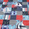 Gone-Sailing quilt-navy theme perspective detail